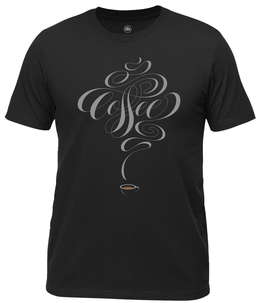 Coffee Lettering T-shirt by Dan Forster available from Type T-shirts