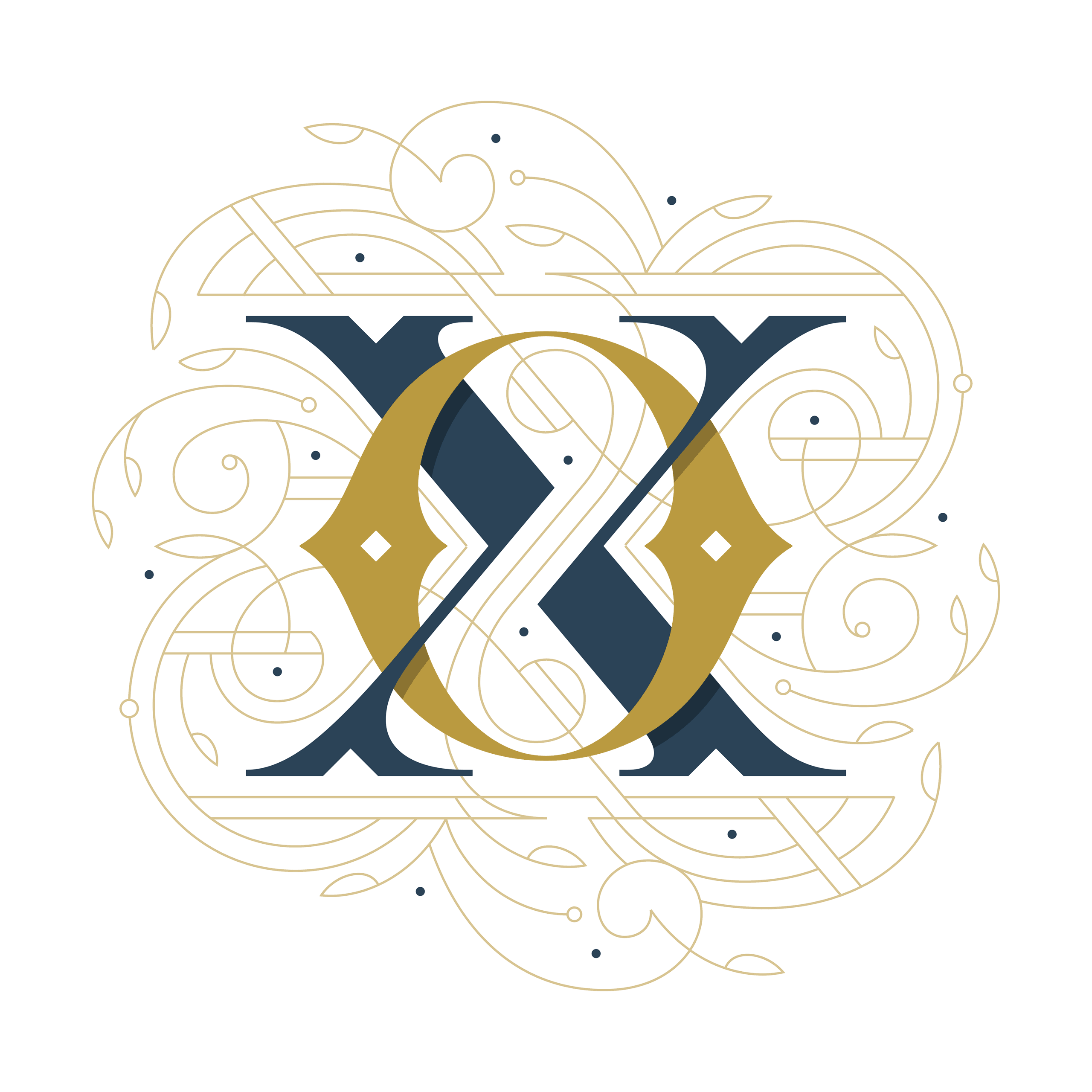 Oxford Print Fair Monogram Designed by Dan Forster