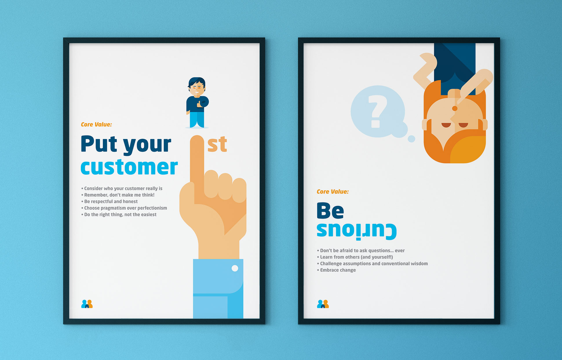 SpareRoom Brand Values Posters by Dan Forster