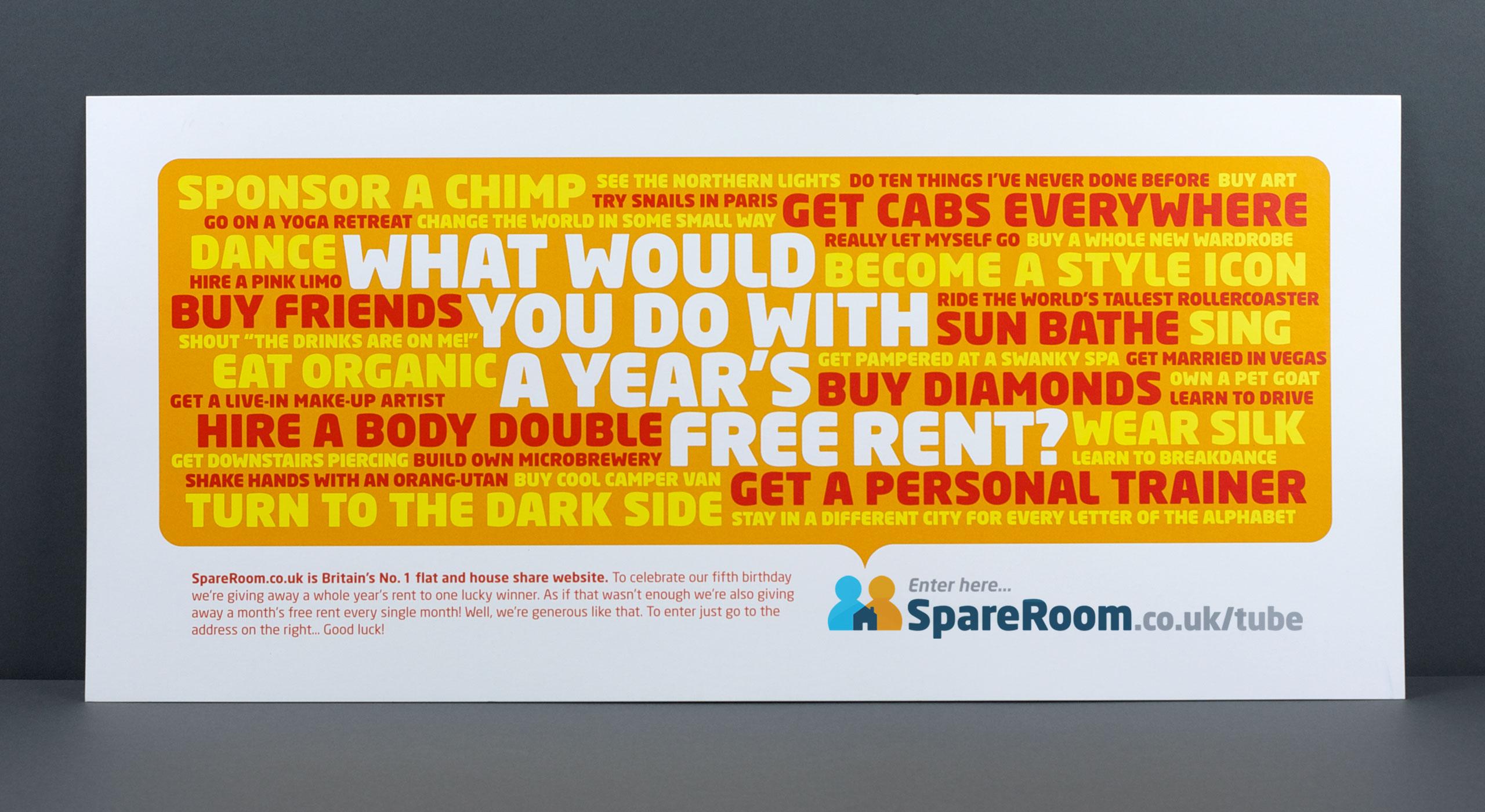 SpareRoom Tube poster designed by Dan Forster