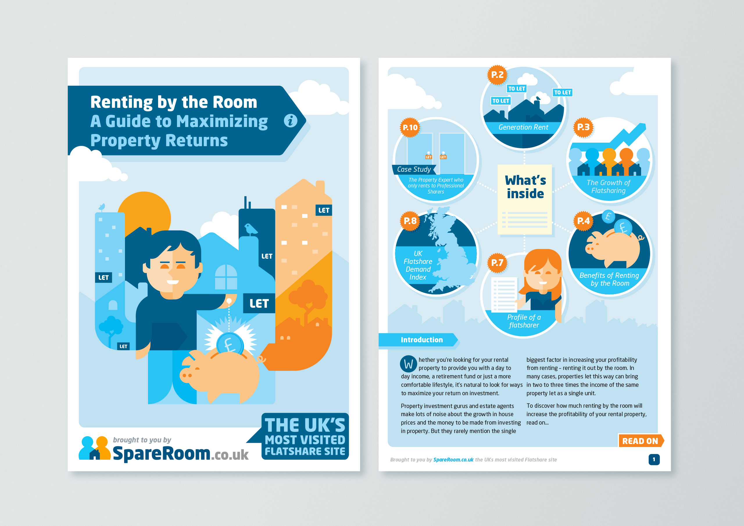SpareRoom User Guides pages by Dan Forster