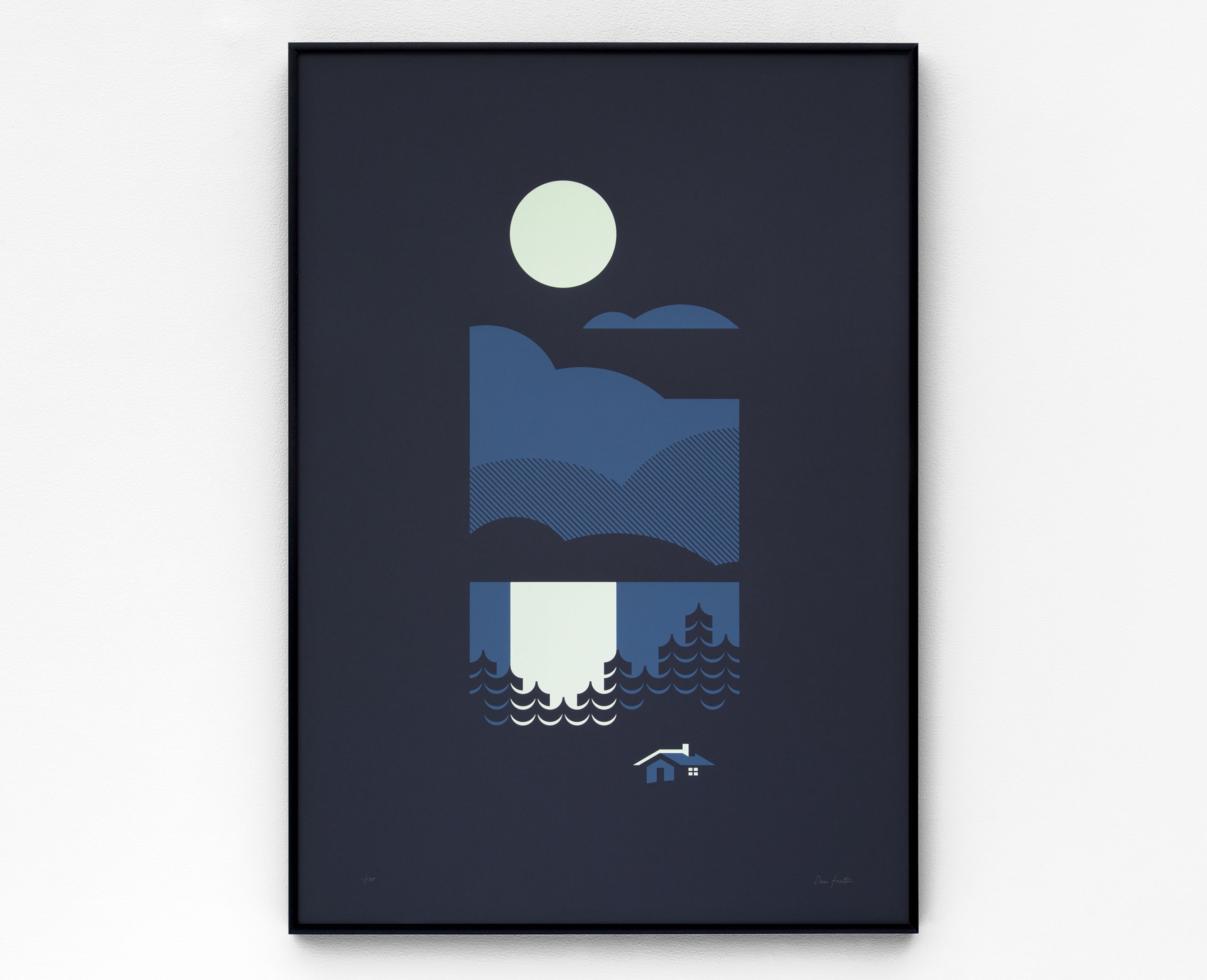 Cabin Screen Print by Dan Forster created for The Lost Fox