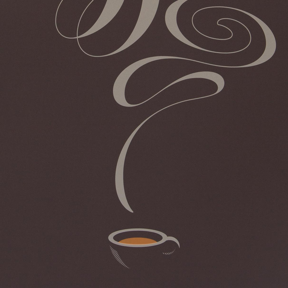 Coffee Lettering Screen Print by Dan Forster For The Lost Fox