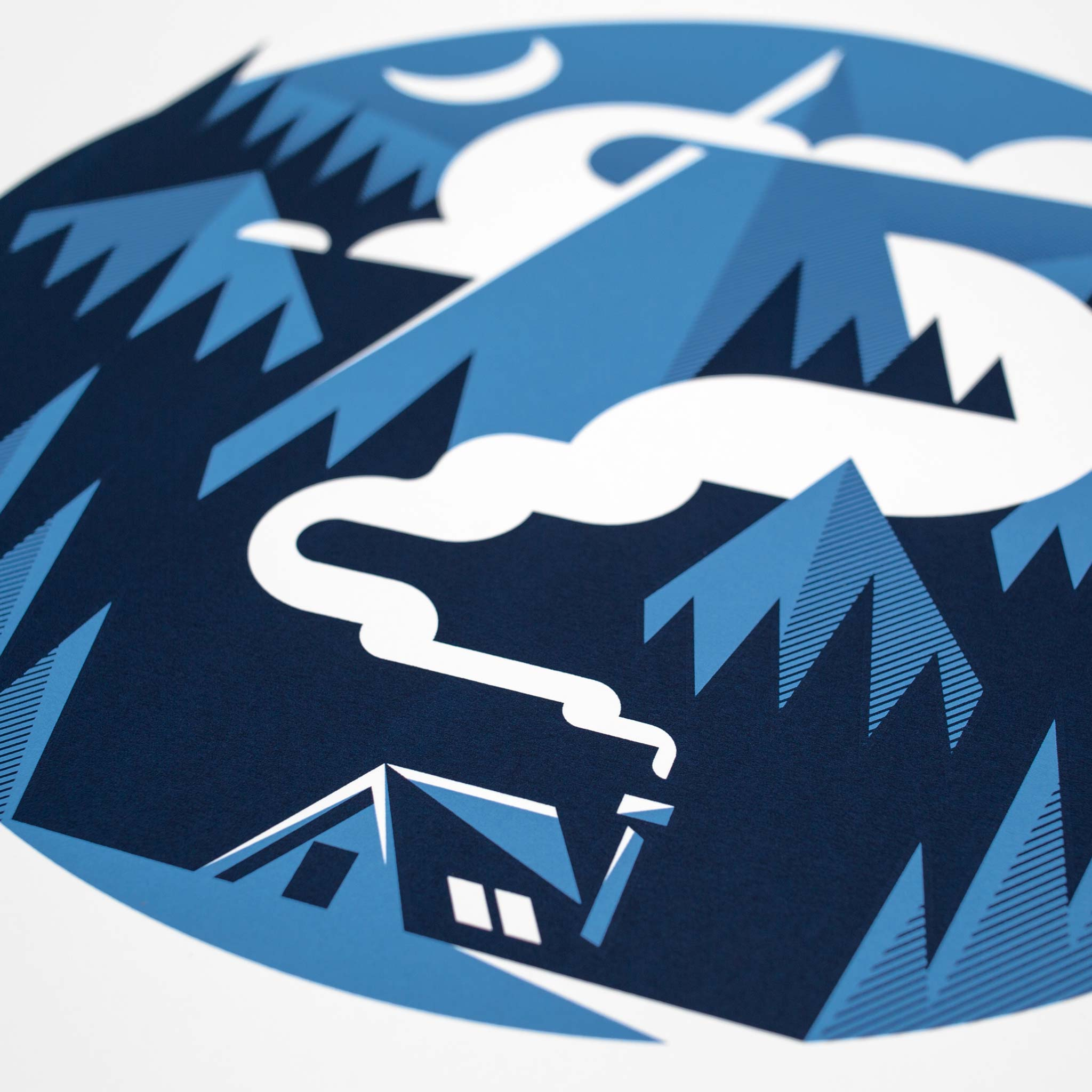 Hideaway Screen Print by Dan Forster created for The Lost Fox
