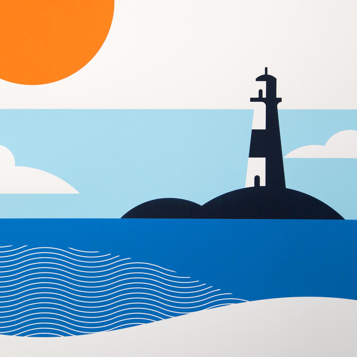 Lighthouse Screen Print by Dan Forster created for The Lost Fox
