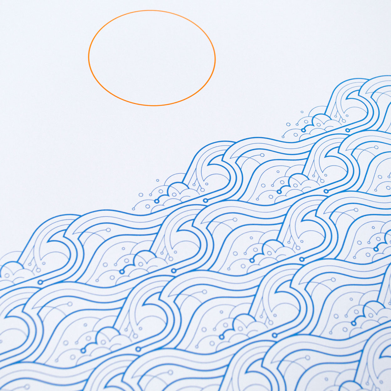 Waves A2 Screen Print by Dan Forster created for The Lost Fox