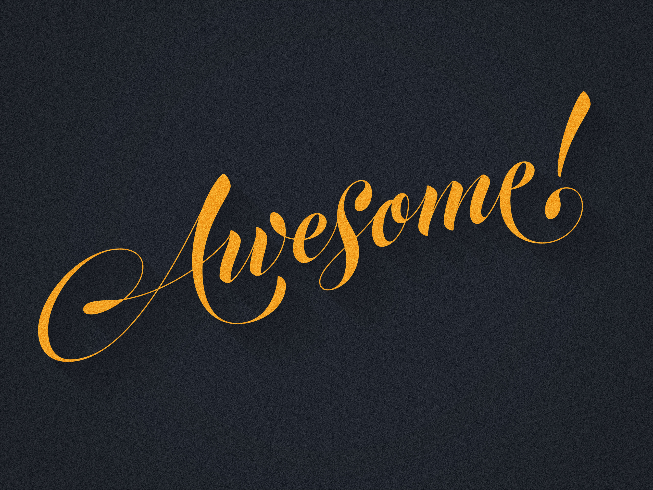 Awesome Lettering by Dan Forster