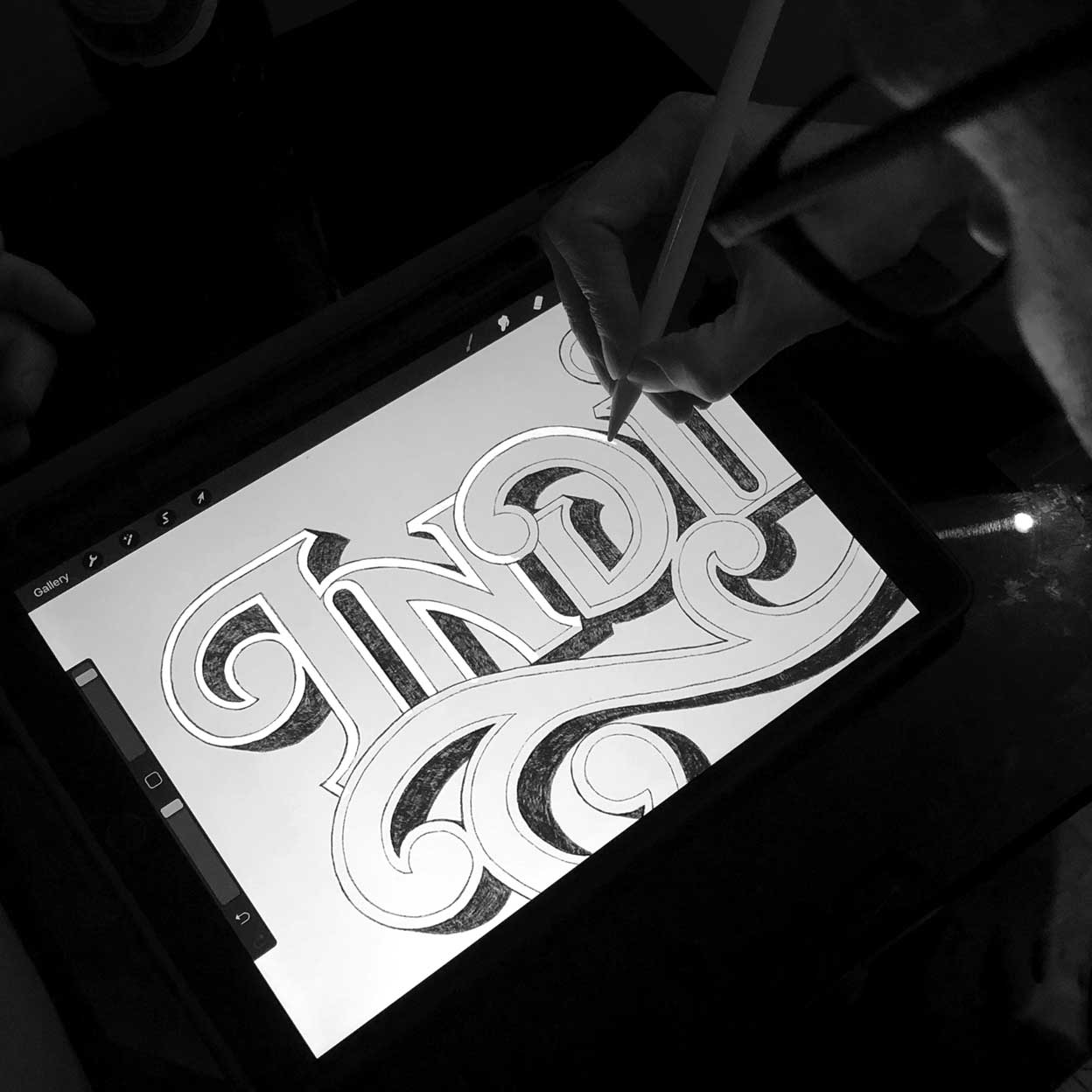 India Custom Lettering by Dan Forster