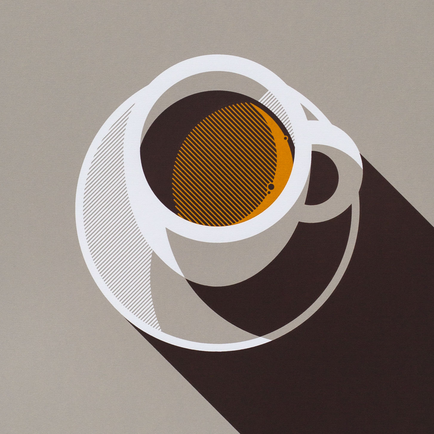 Espresso Coffee Screen Screen Print by Dan Forster created for The Lost Fox