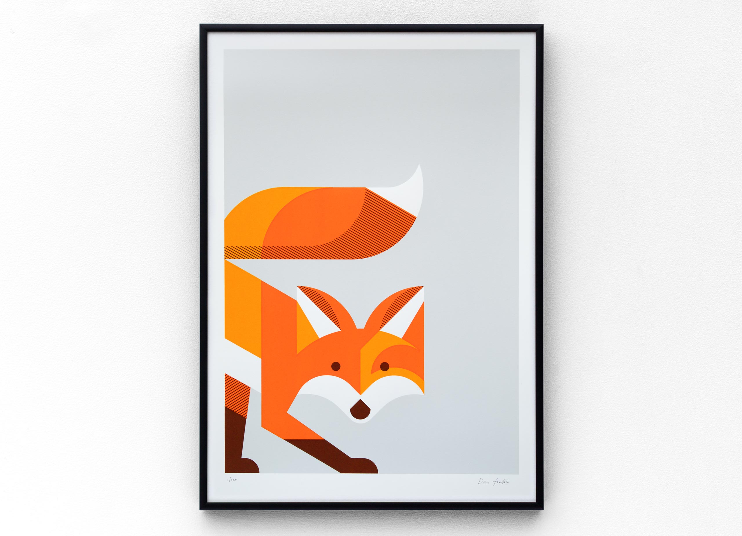 Fox Screen Screen Print by Dan Forster created for The Lost Fox