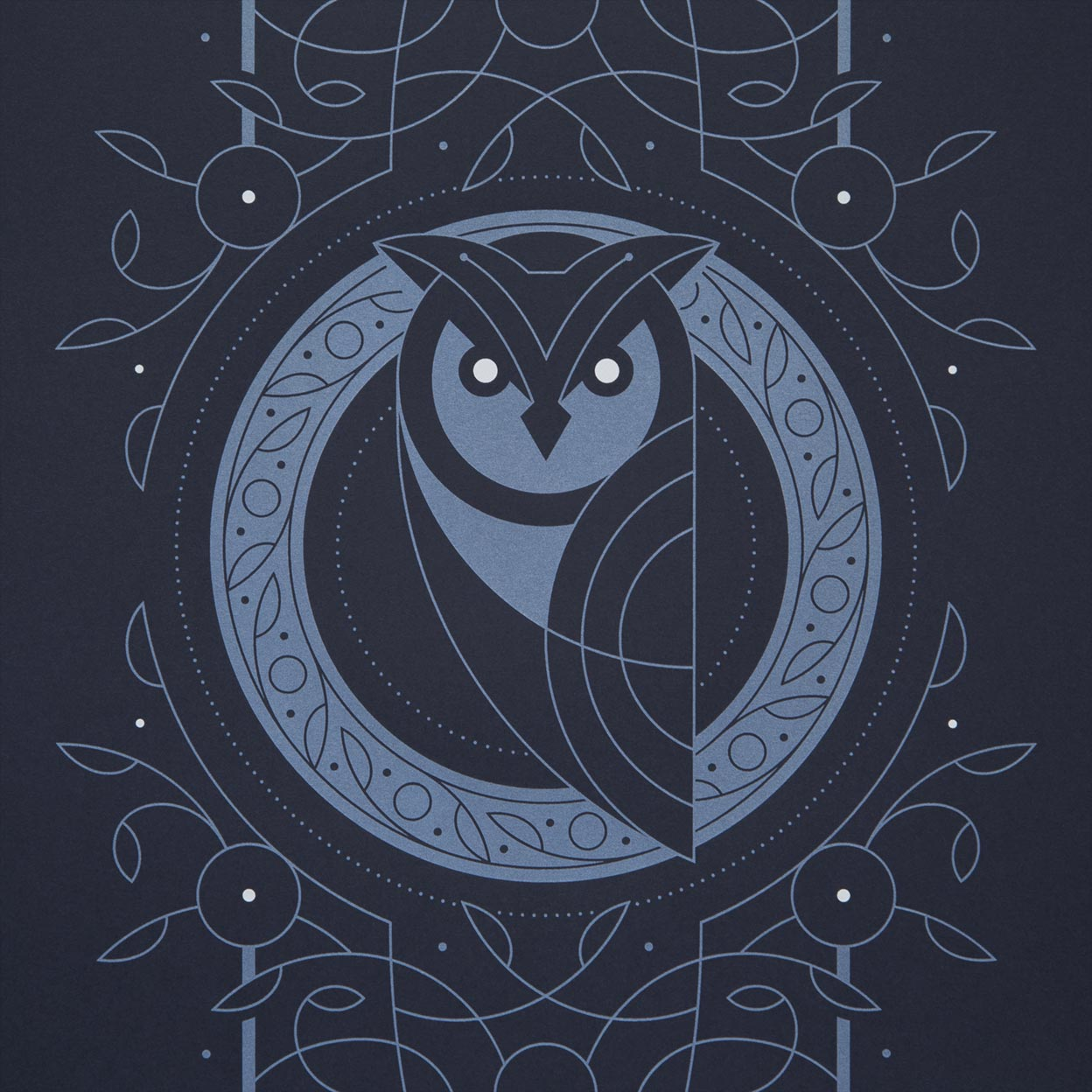 Night Owl Screen Print by Dan Forster created for The Lost Fox