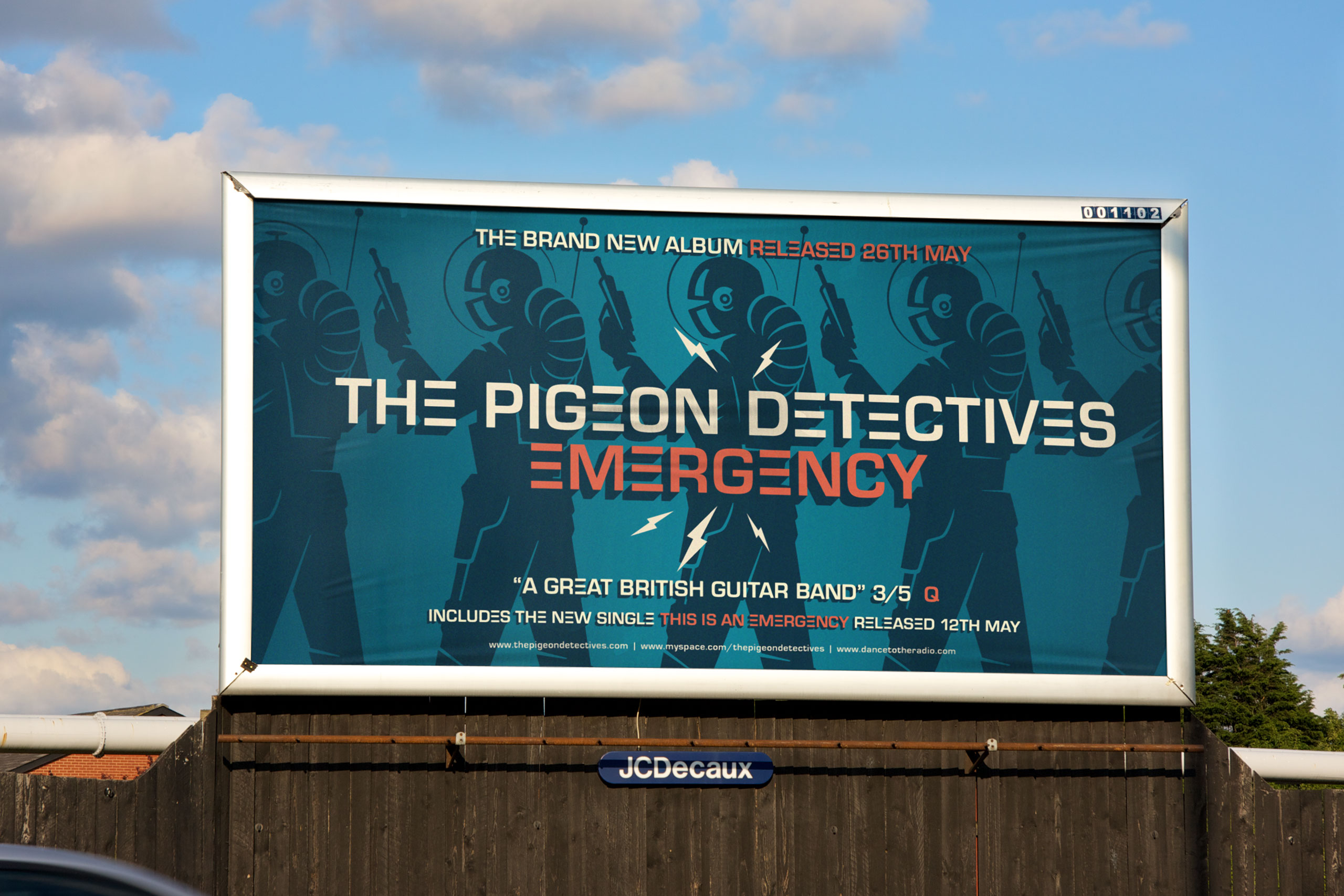 Emergency - The Pigeon Detectives Billboard by Dan Forster