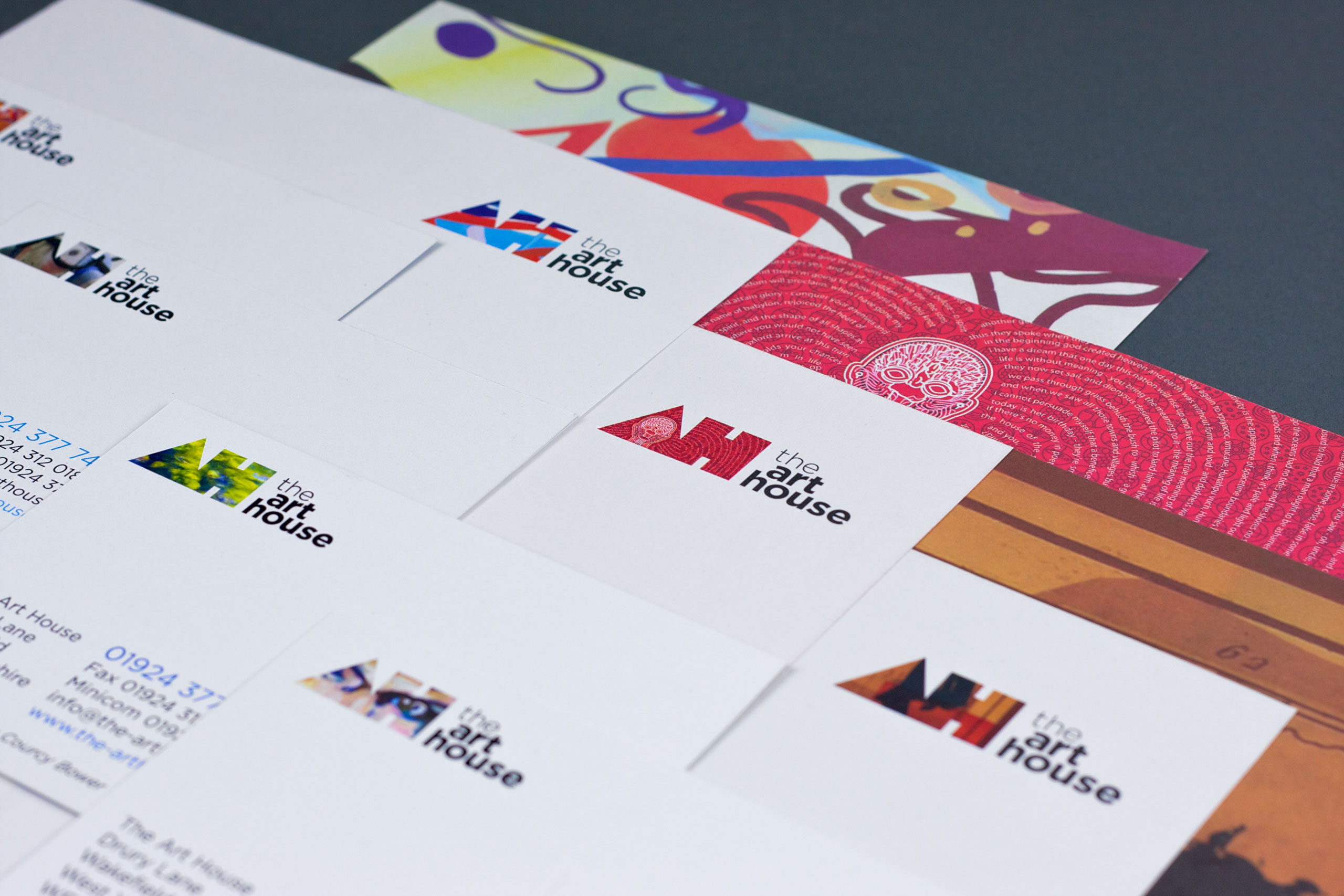 Stationery for The Art House designed by Dan Forster