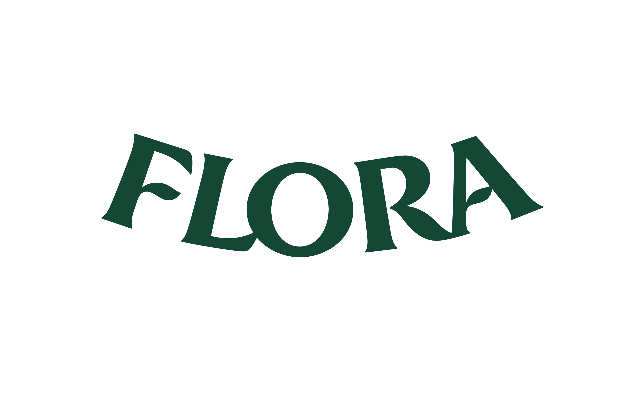 Flora logotype designed by Dan Forster