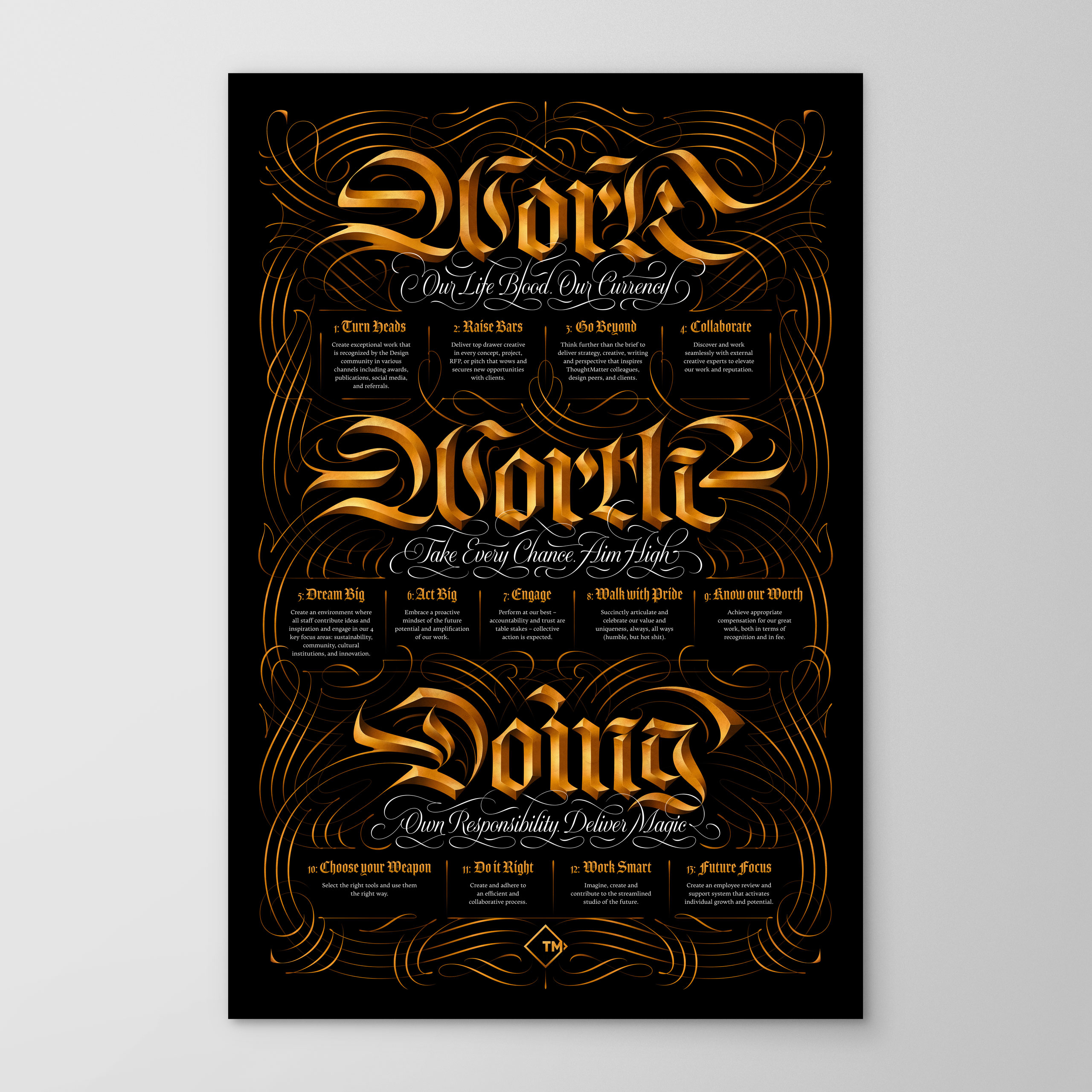 Work Worth Doing Poster, for Thought Matter Studio, Designed by Dan Forster