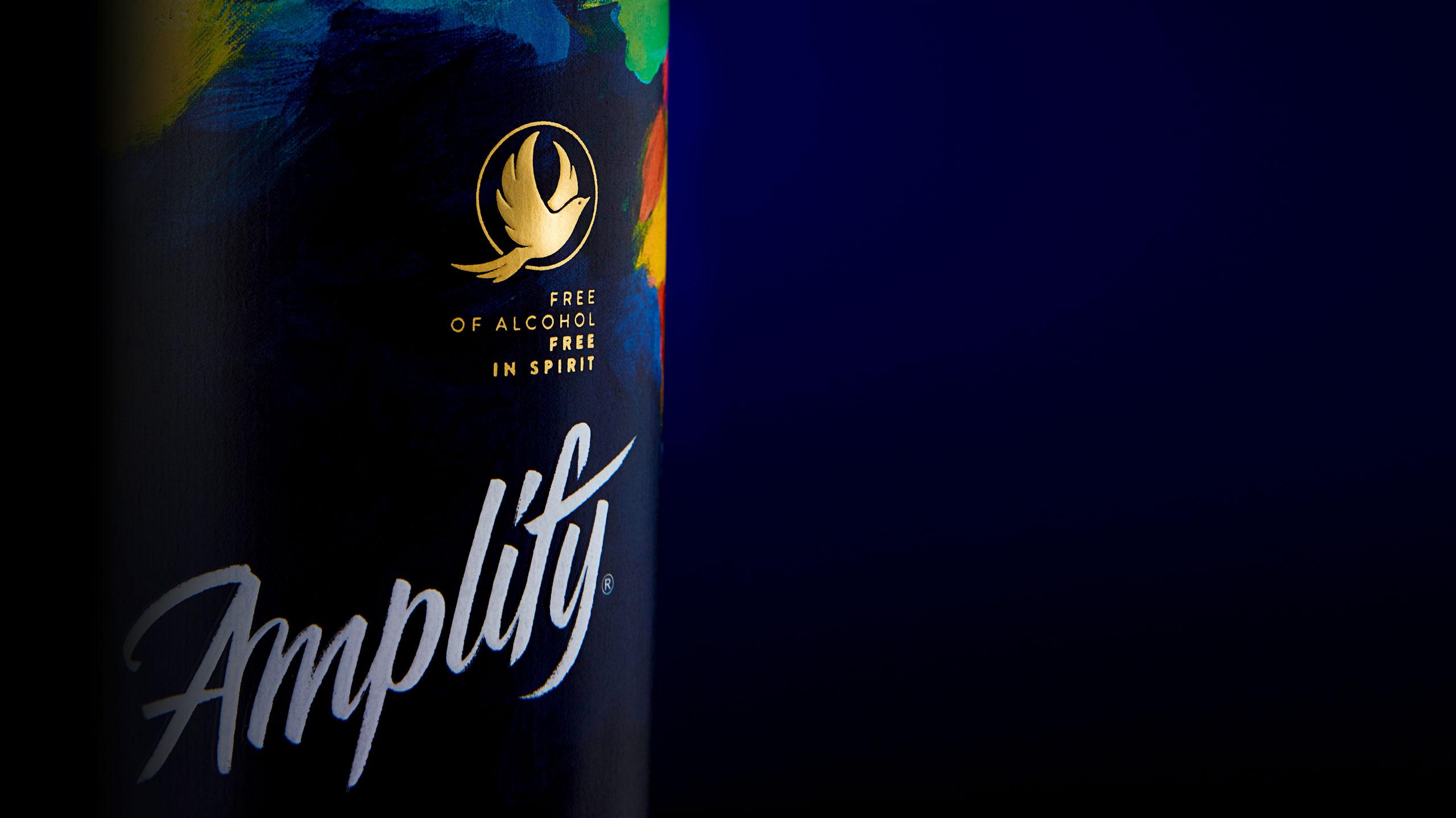 Amplify logotype, for Elmwood, Designed by Dan Forster