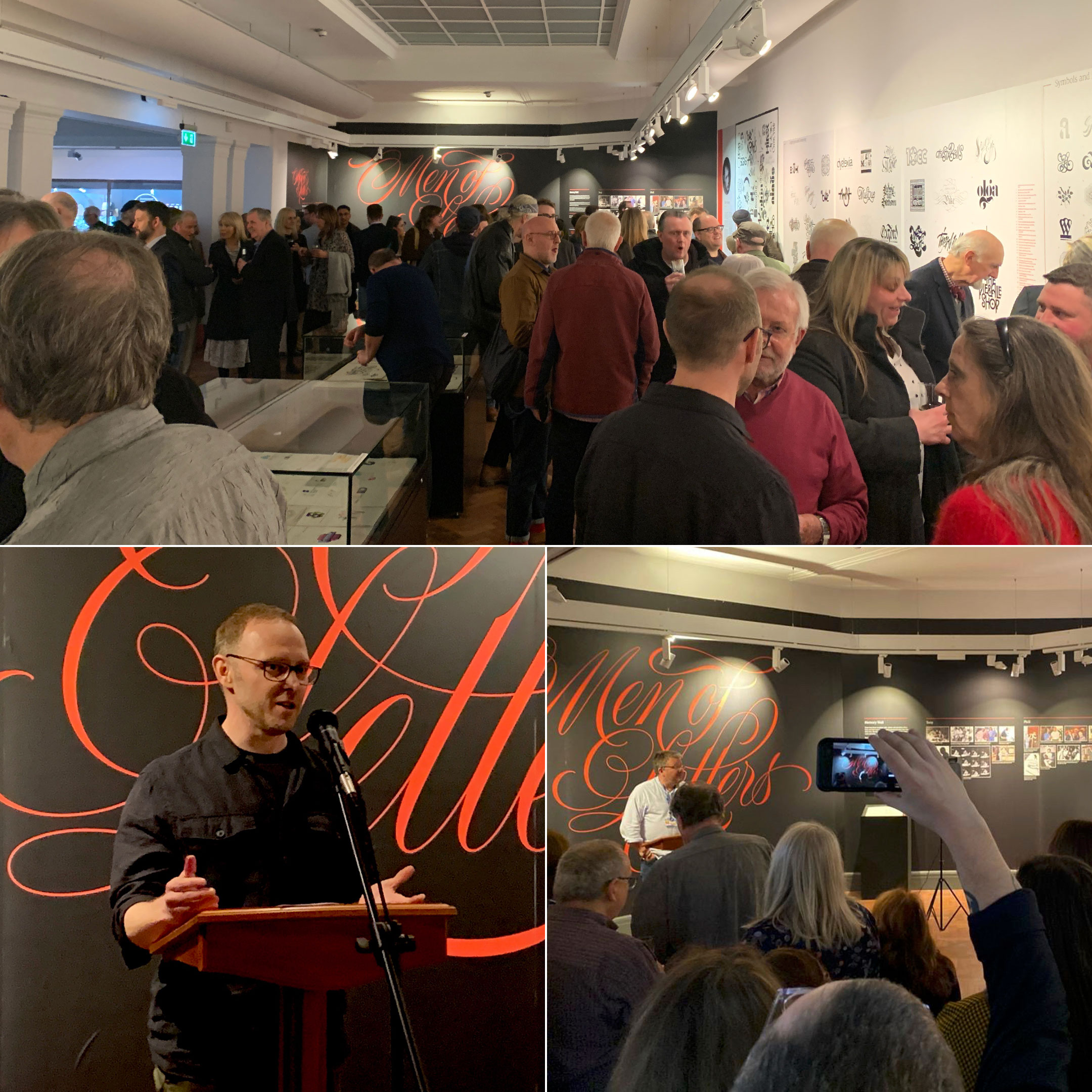 Men of Letters exhibition – Opening night