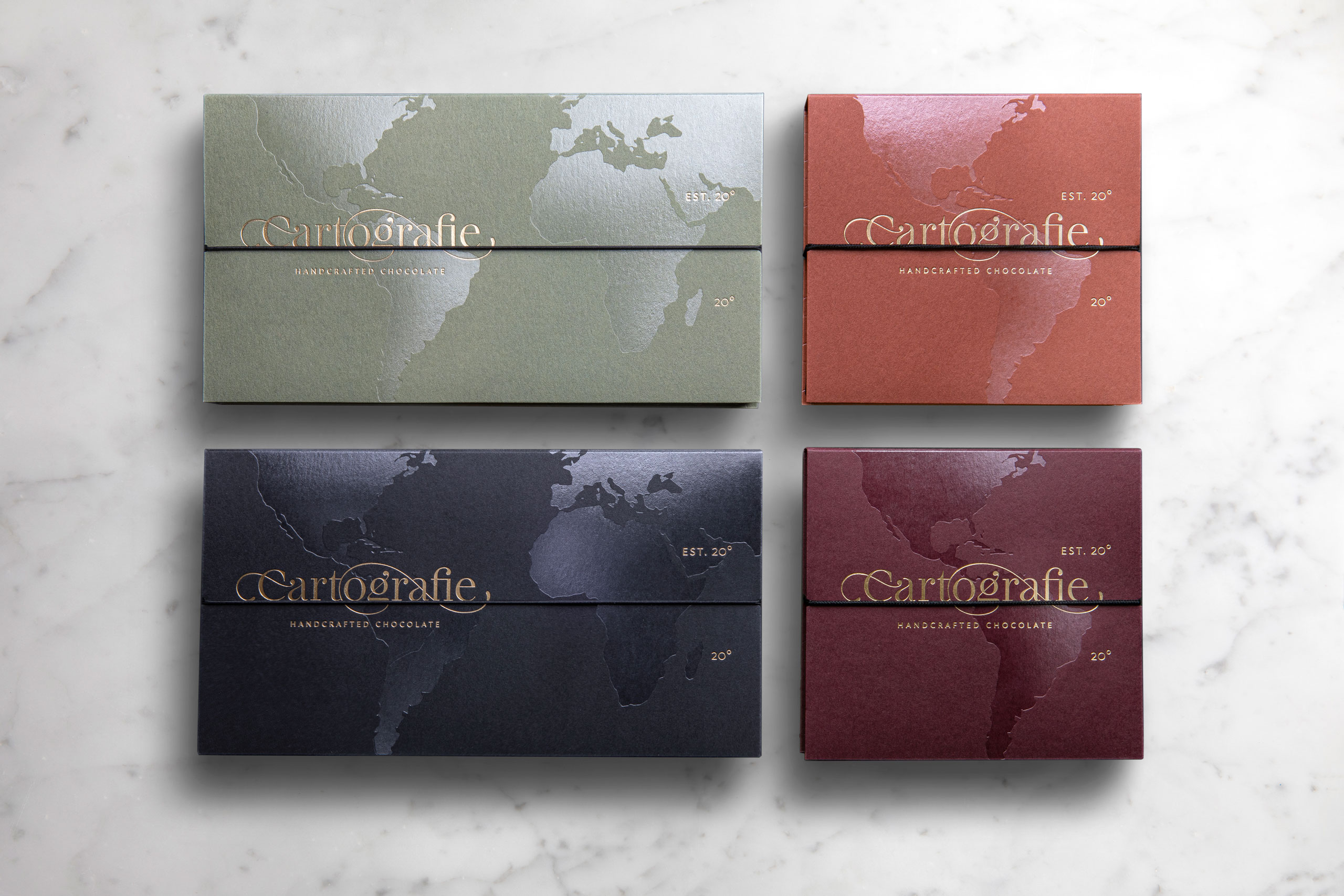 Cartografie Chocolates packaging all boxes