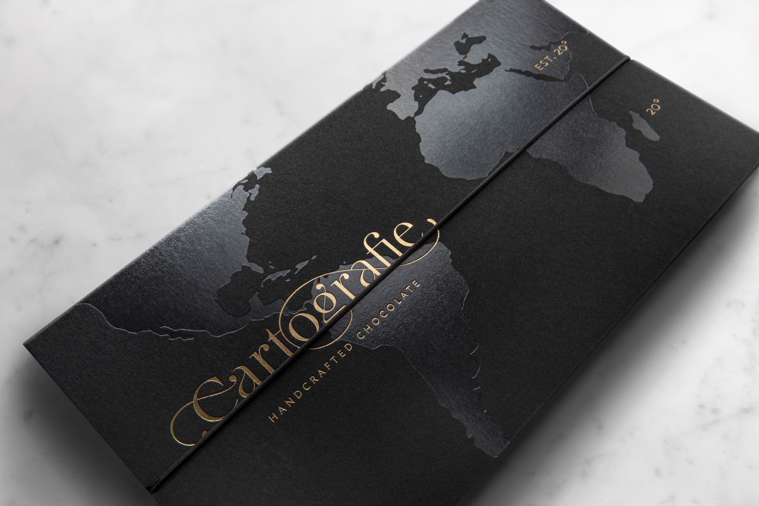 Cartografie Chocolates packaging black box